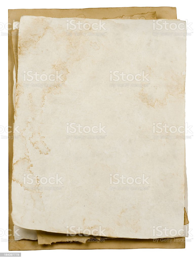 Stack of rotting papers stock photo
