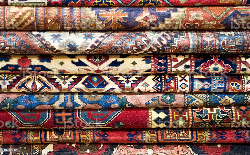 Stack of Rugs stock photo