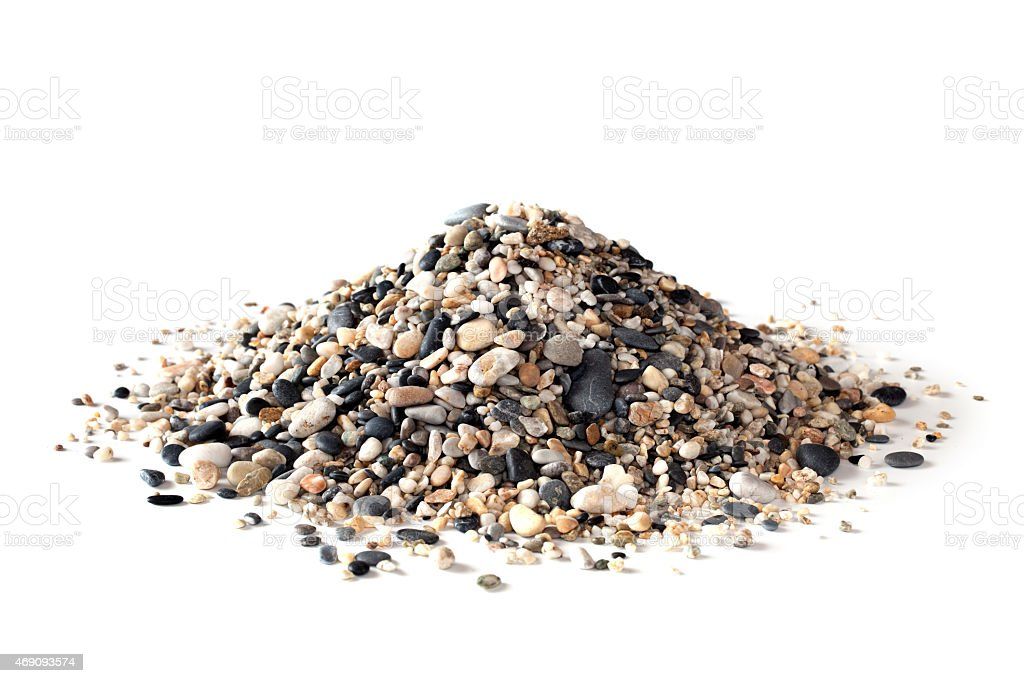 Stack of sand and small pebbles stock photo