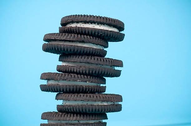 Pilha de sanduíches de Cookies - foto de acervo