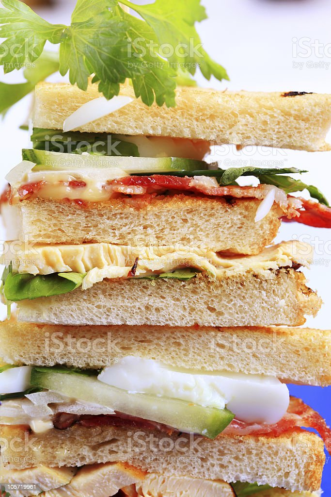 Stack of sandwiches royalty-free stock photo