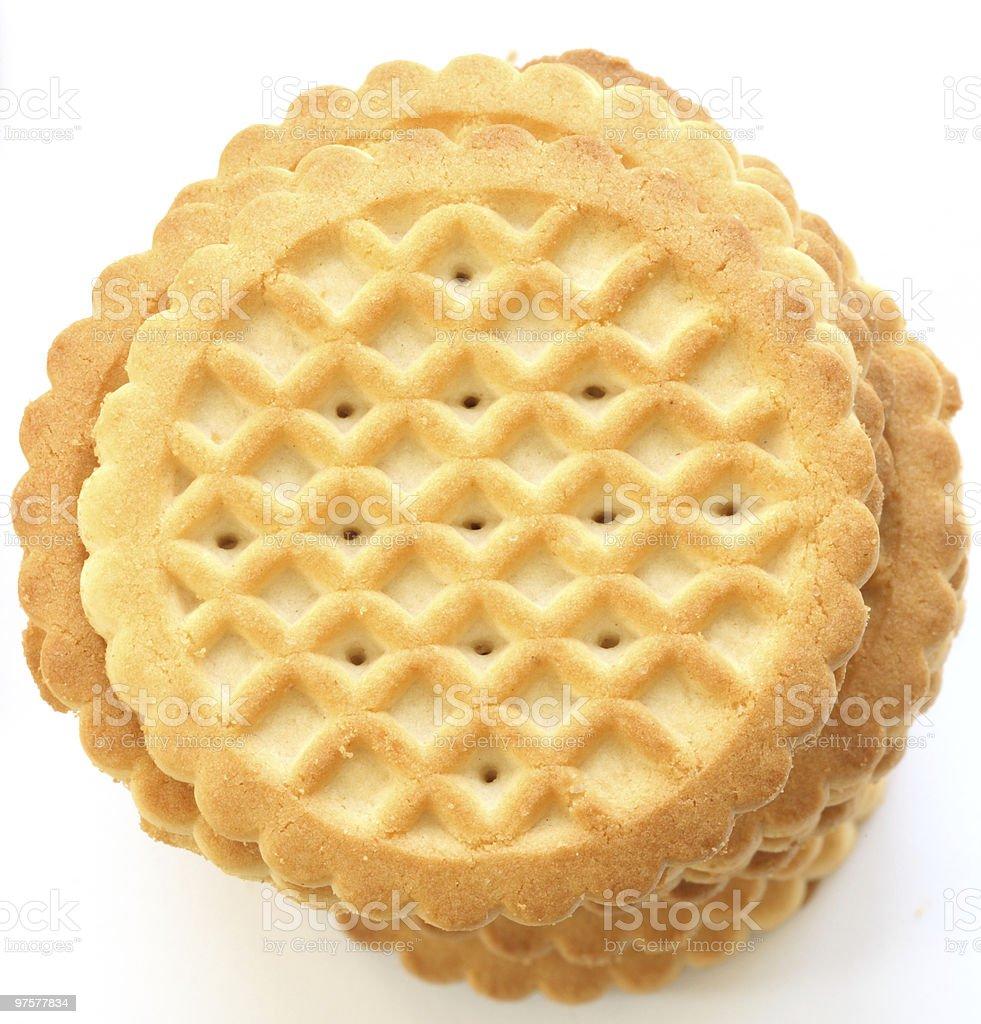Pile de biscuits au beurre Sablé photo libre de droits
