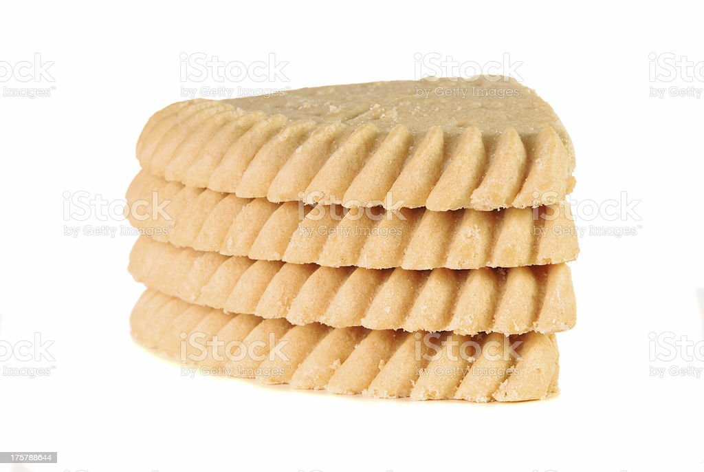 Stack of shortbread pieces royalty-free stock photo