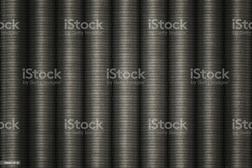 Stack of silver coins royalty-free stock photo
