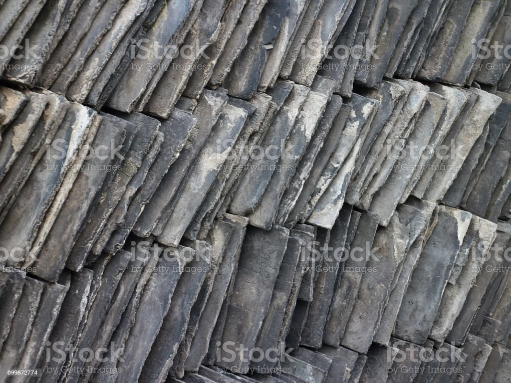 Stack Of Slate Roof Tiles Stock Photo - Download Image Now