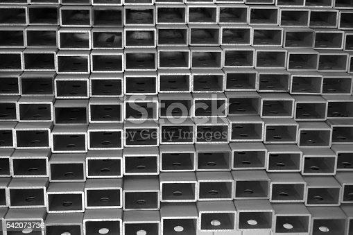 istock stack of square aluminum tube 542073736