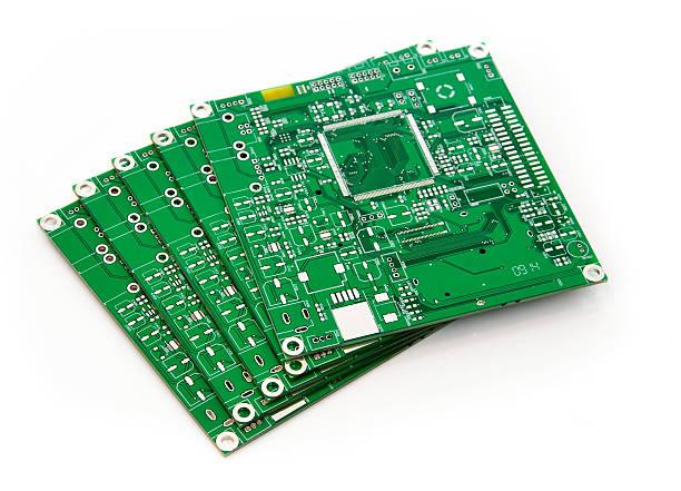 スタックの正方形 PCB ストックフォト
