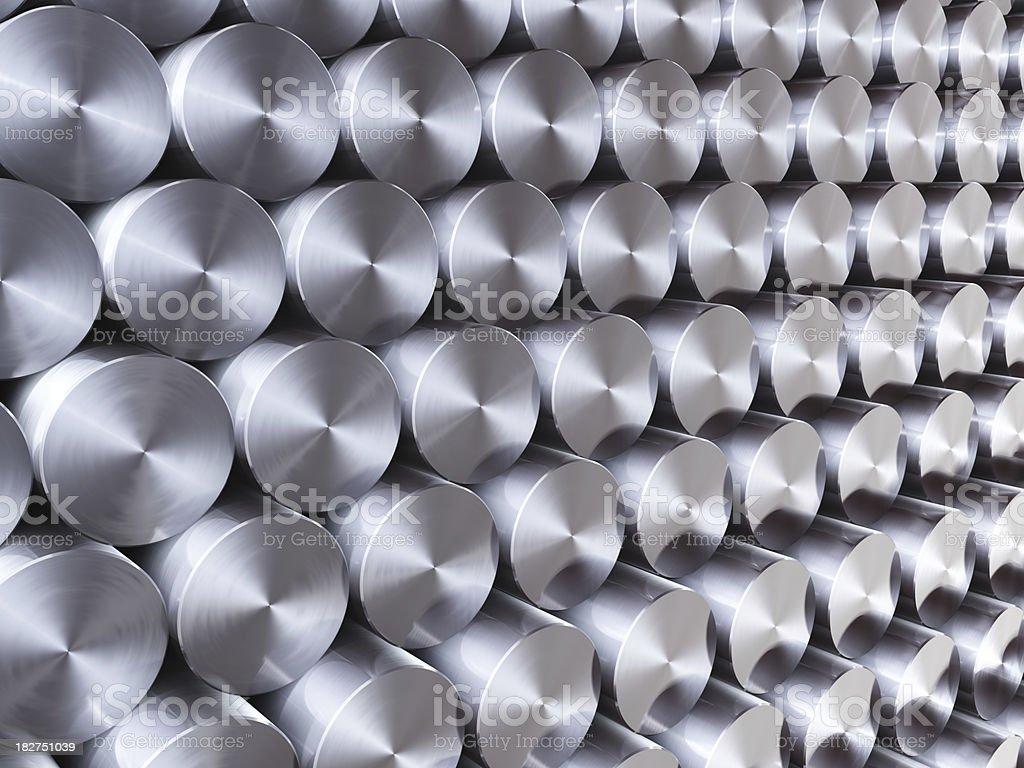Pilha de barras de aço inoxidável de fundo - foto de acervo