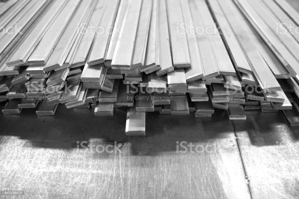 pile de barres en acier plat - Photo