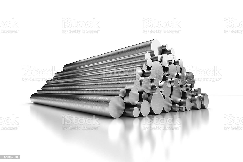 Stack of Steel Pipes royalty-free stock photo