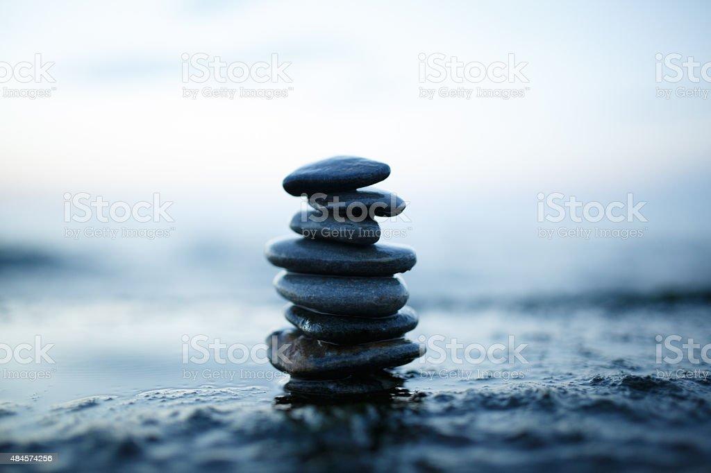 Stack of stones stock photo