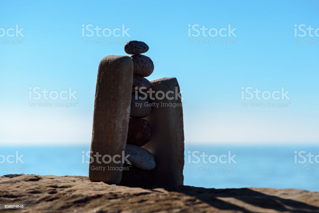 Stack of stones stock photo