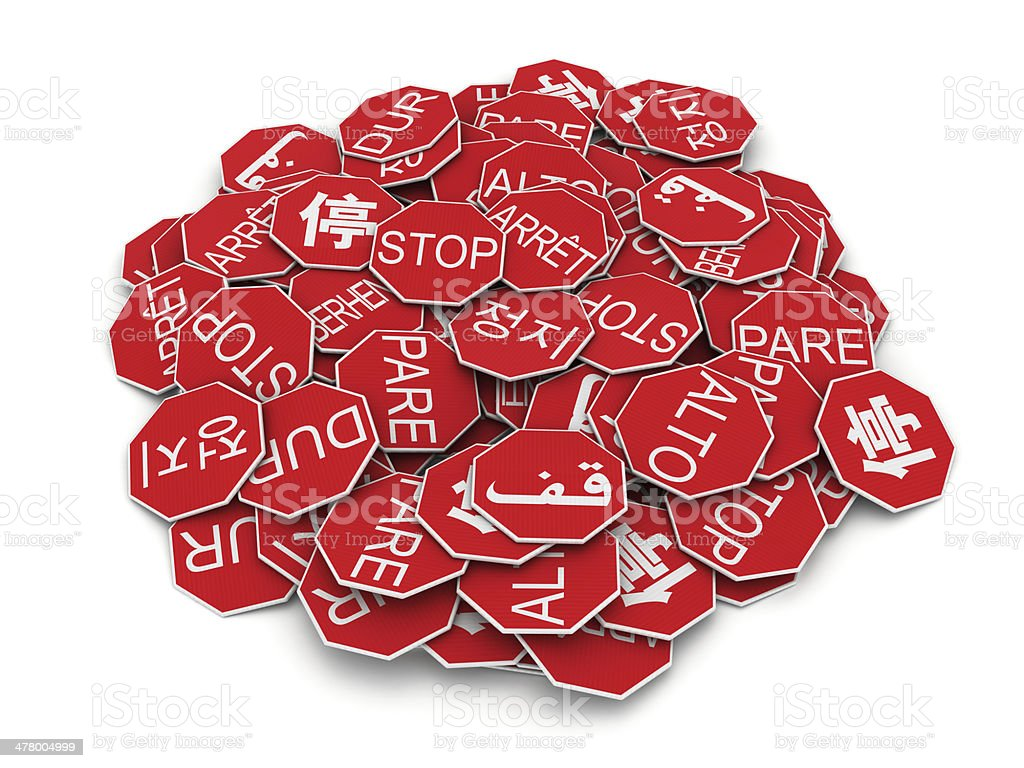 Stack of stop signs royalty-free stock photo