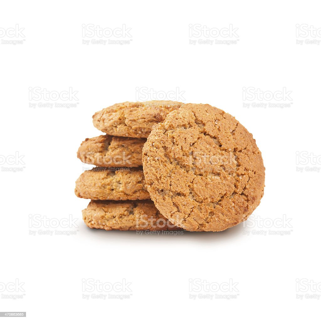 stack of sugar cookies stock photo