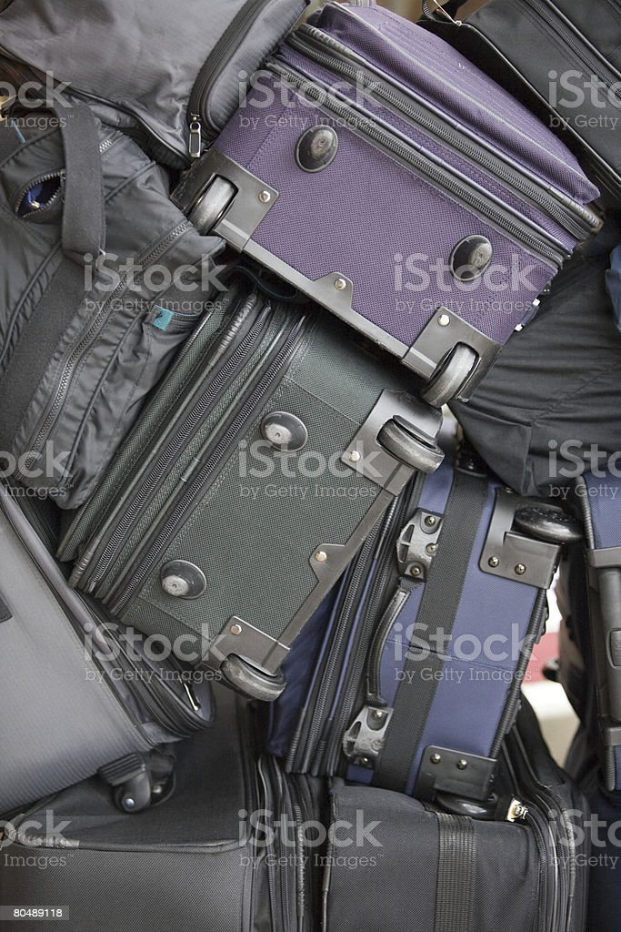 A stack of suitcases royalty-free 스톡 사진