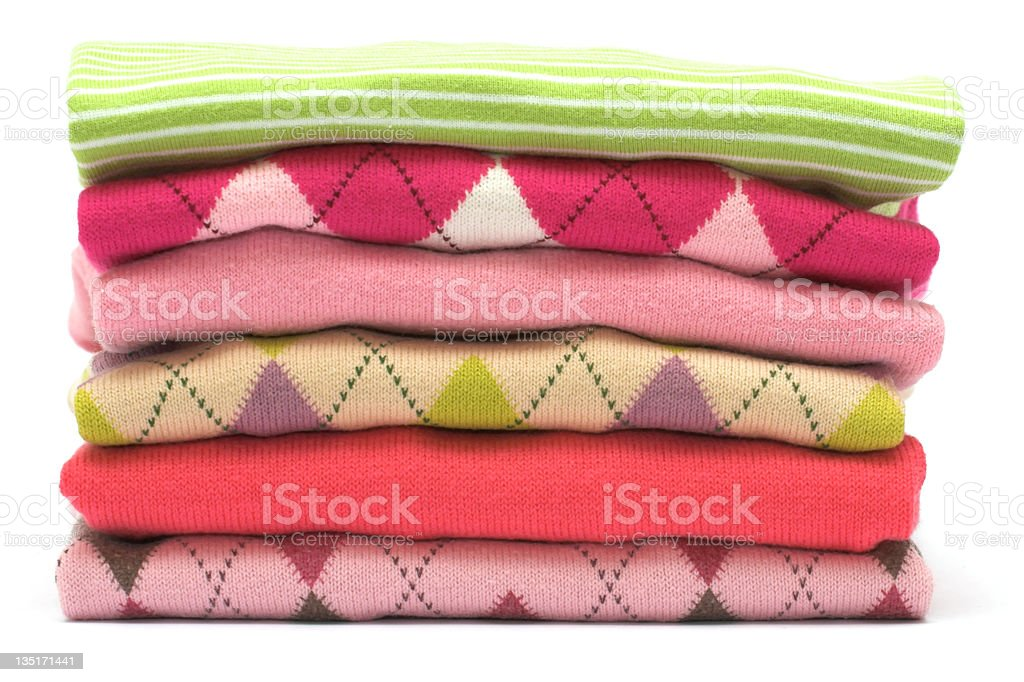 Stack of Sweaters royalty-free stock photo