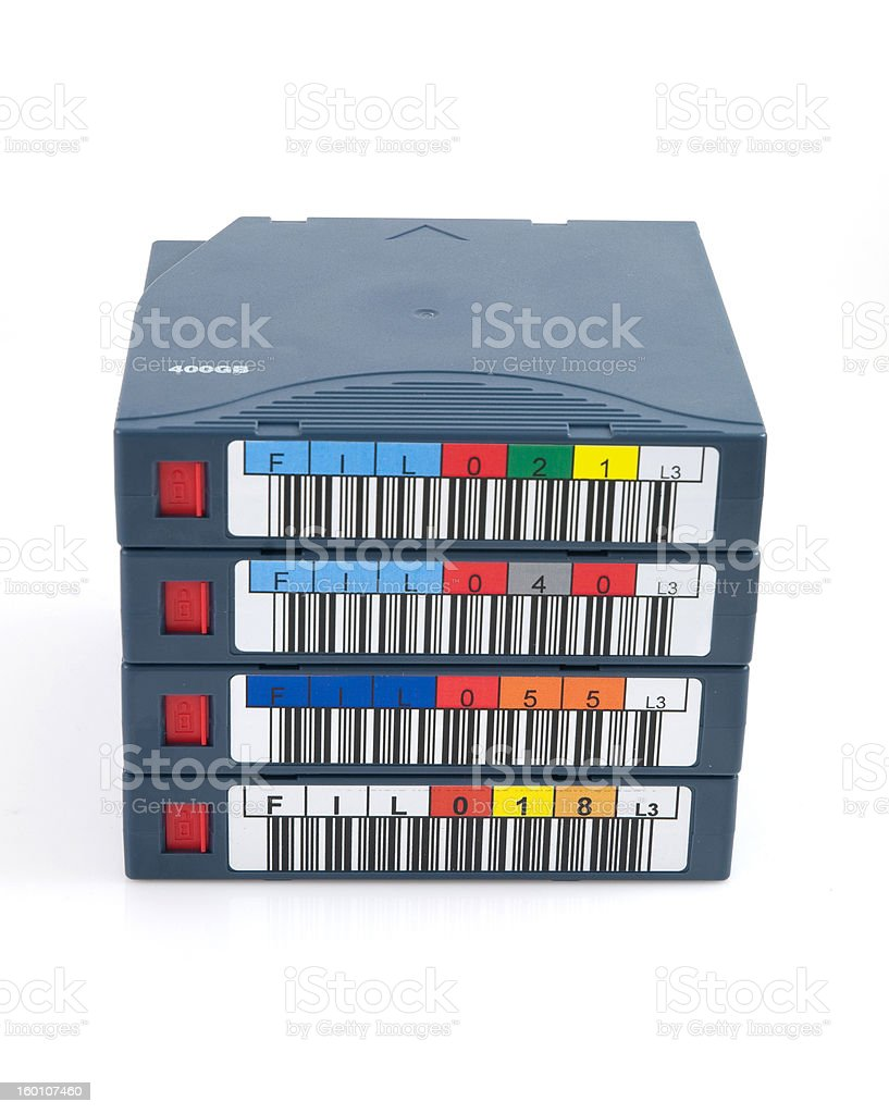 Stack of tapes royalty-free stock photo