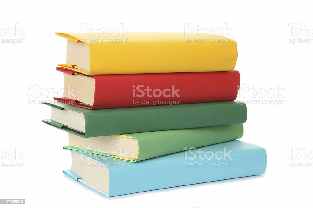 stack of textbooks royalty-free stock photo