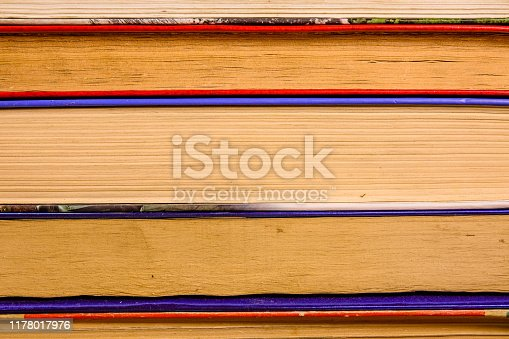 1034955096 istock photo Stack of the different old books for background 1178017976