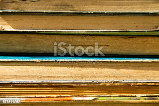 1034955096 istock photo Stack of the old books. Books background 673811262