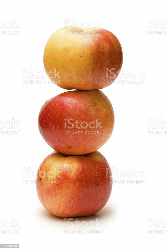 Куча трех яблоки стоковое фото