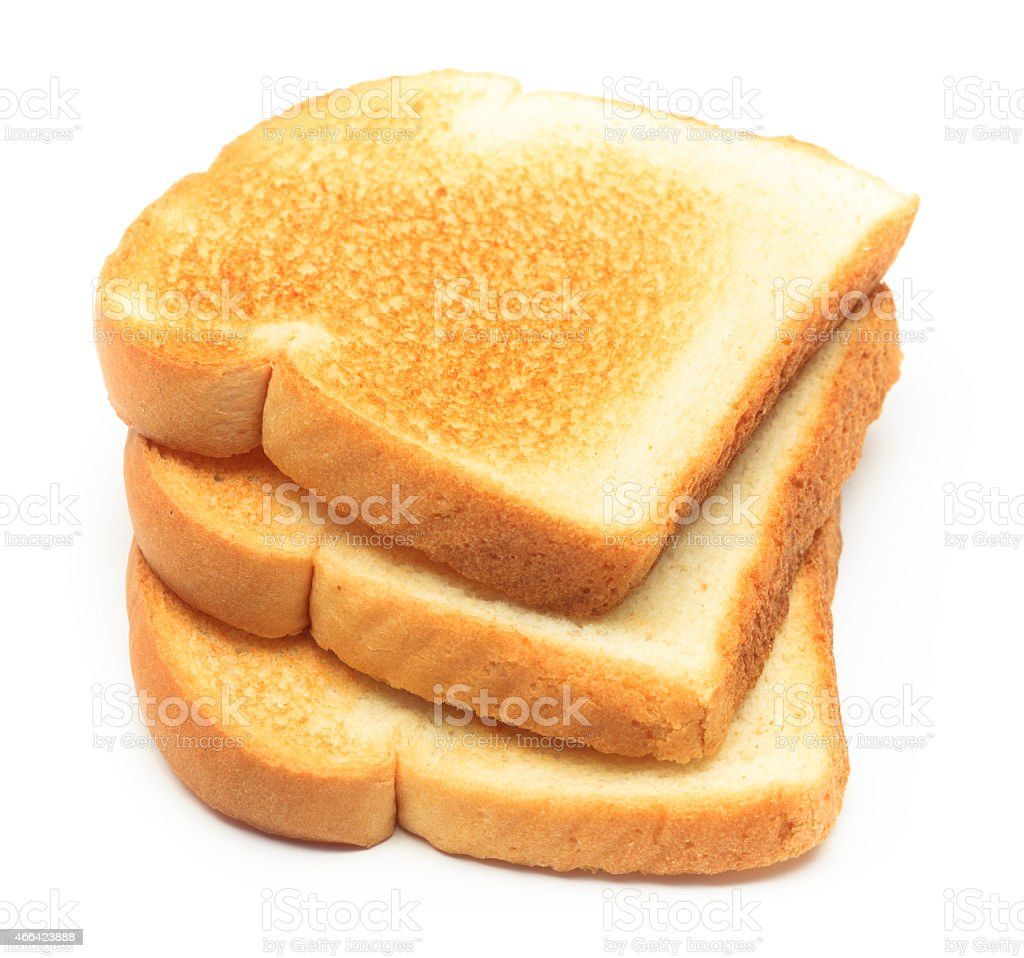 Stack of Toasted White Bread stock photo