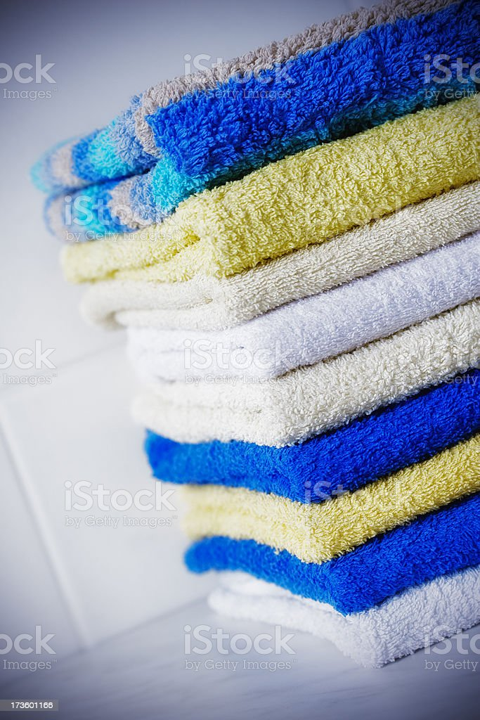 Stack of towels royalty-free stock photo