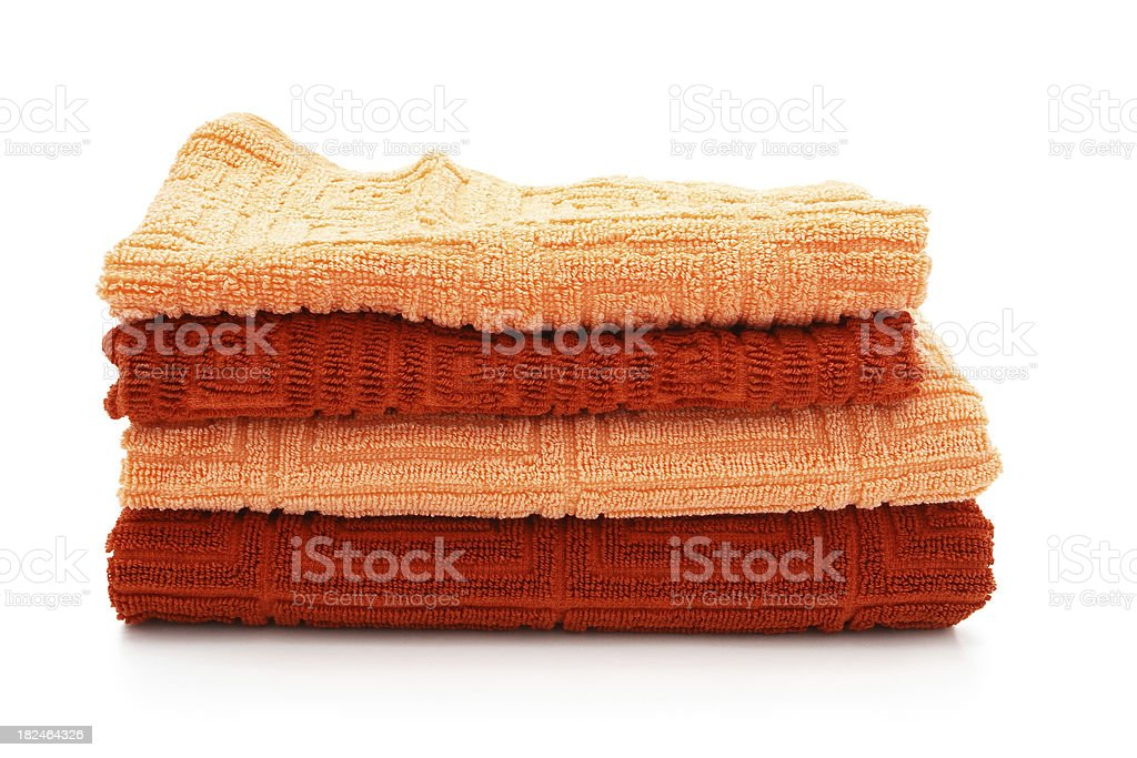 Stack of towels. royalty-free stock photo