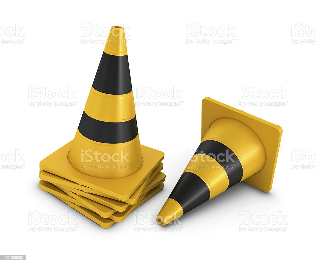 Stack of Traffic Cones royalty-free stock photo