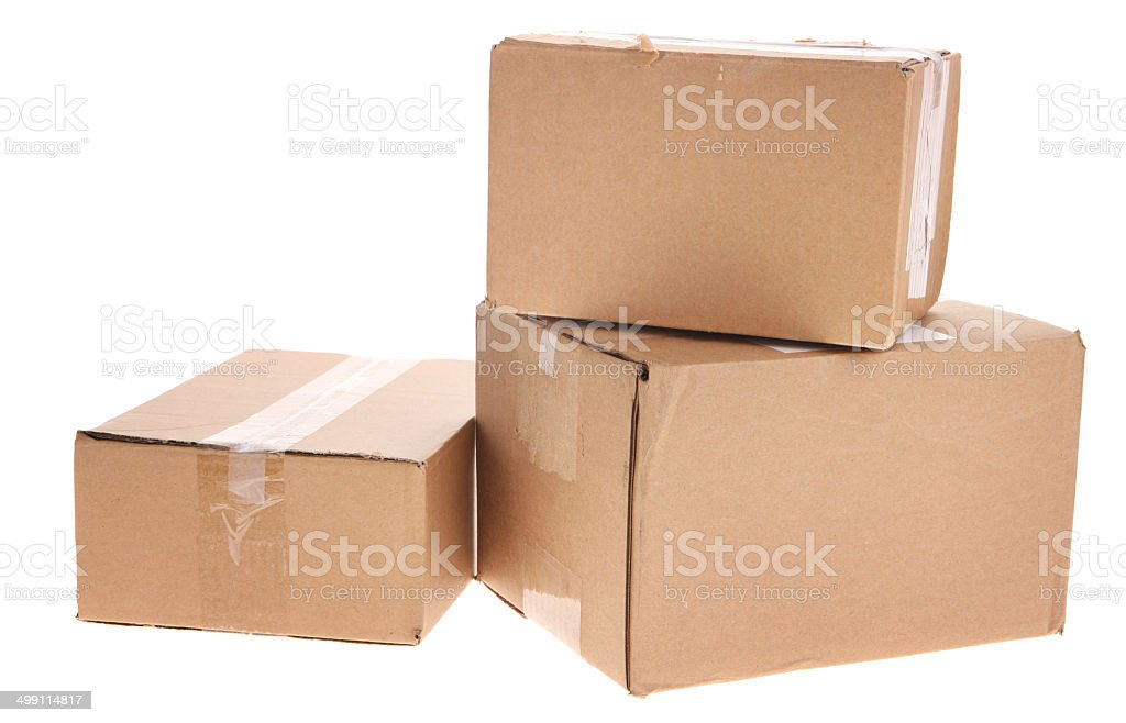 Nice Used Boxes For Moving House #5: Box - Container, Cardboard Box, Container, Moving House, Blank. Stack Of Used  Boxes ...