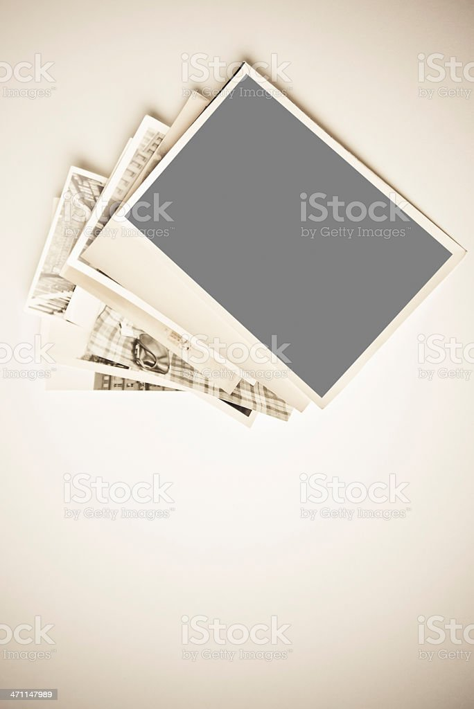 stack of vintage pictures royalty-free stock photo