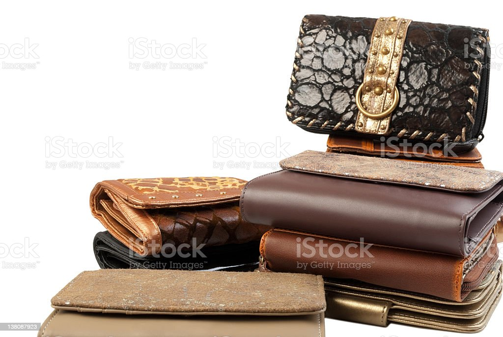 Stack of wallets #3 | Isolated stock photo