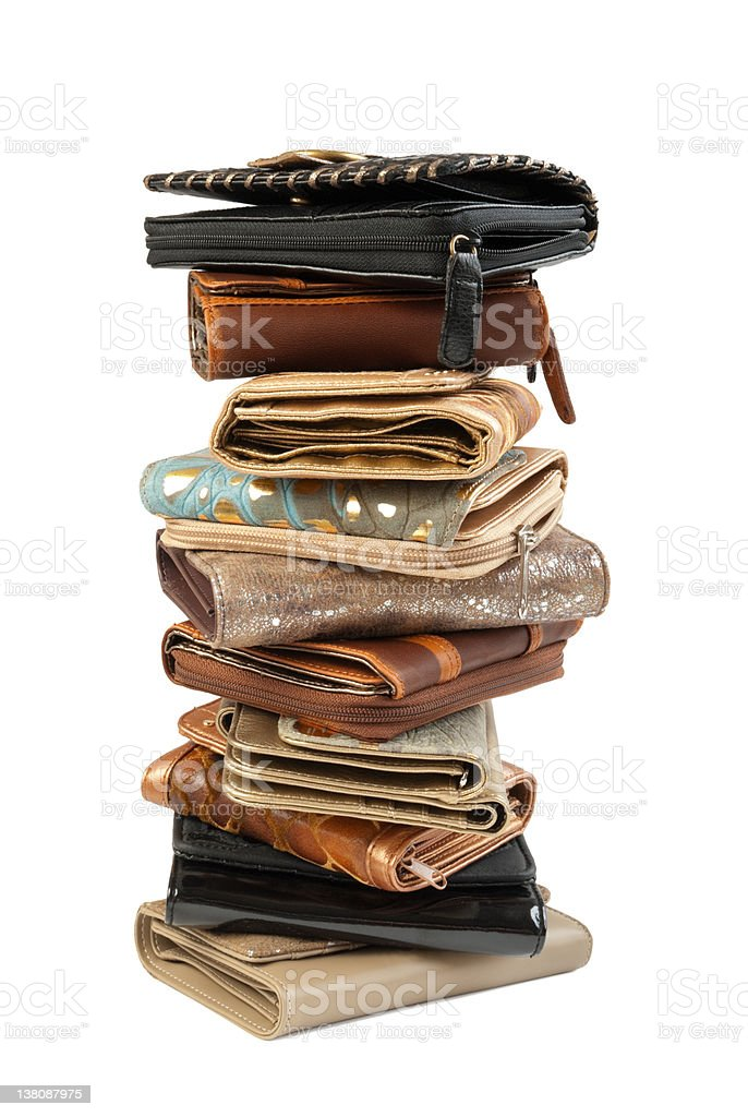 Stack of wallets #2 | Isolated stock photo