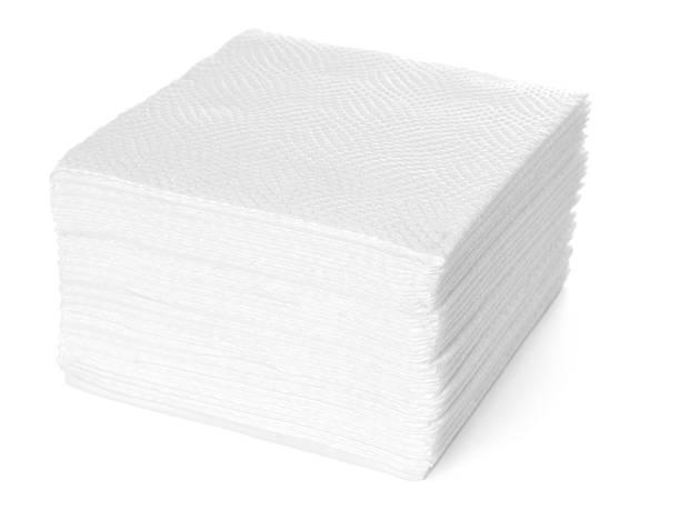 stack of white paper napkins - servett bildbanksfoton och bilder