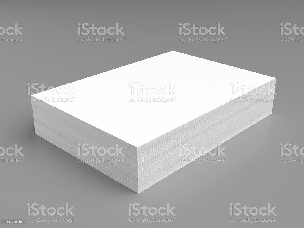 Pila de libro blanco - foto de stock