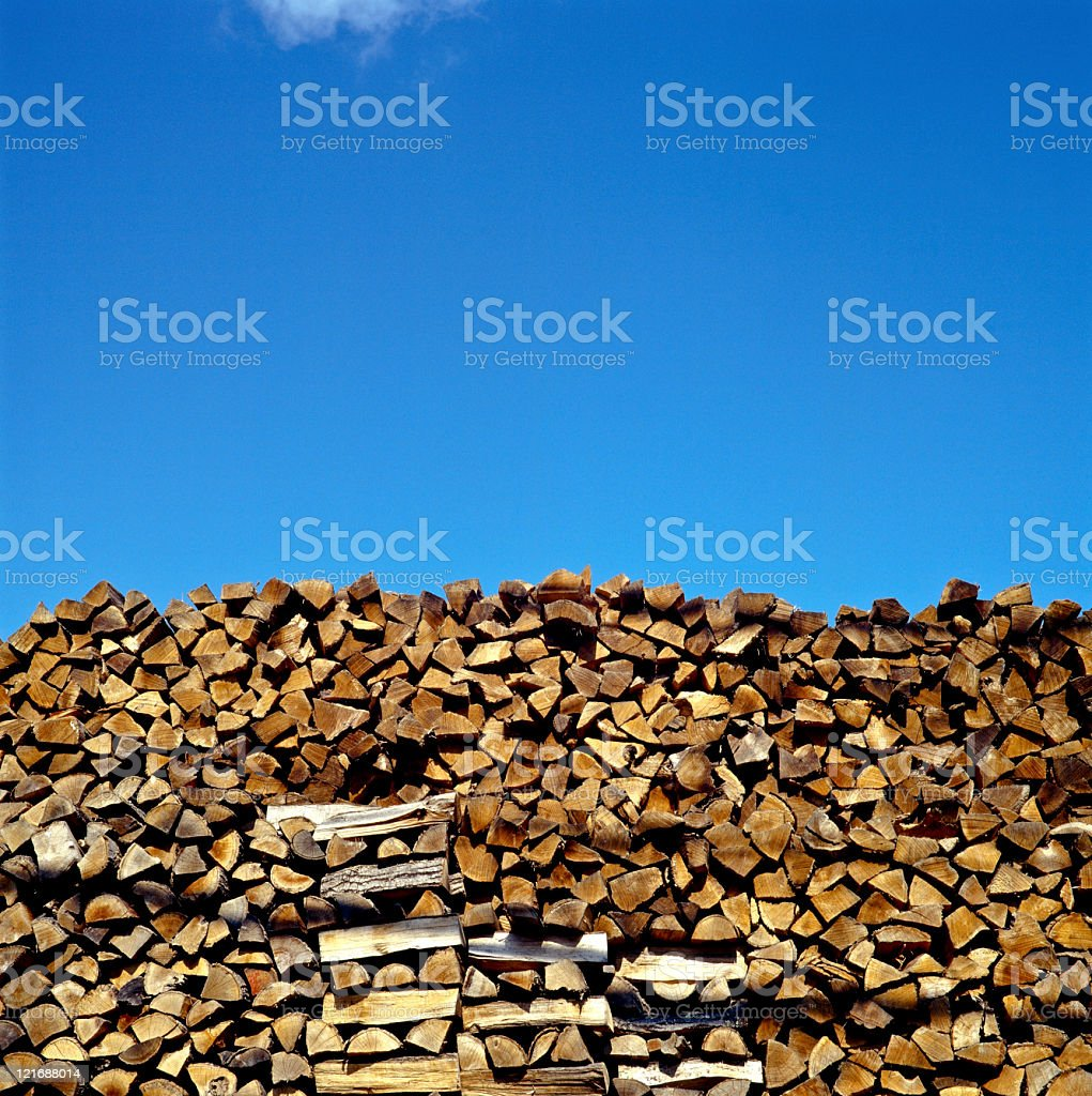 Stack of wood for sale royalty-free stock photo