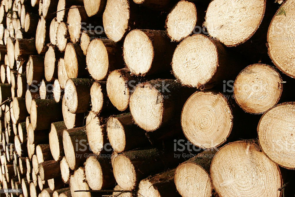 stack of wood royalty-free stock photo