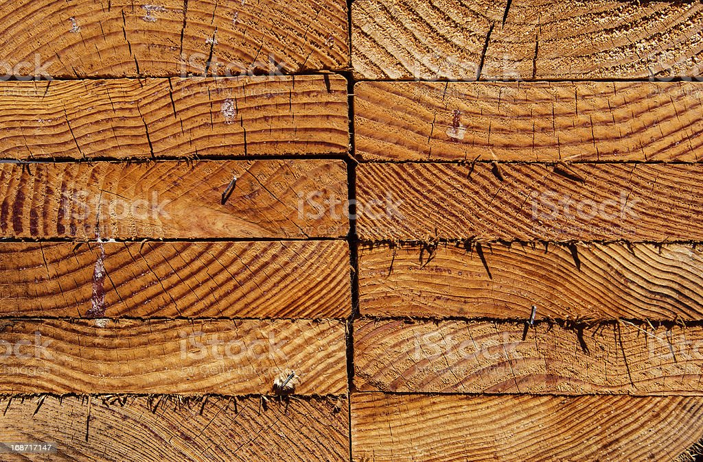 Stack of wood planks royalty-free stock photo