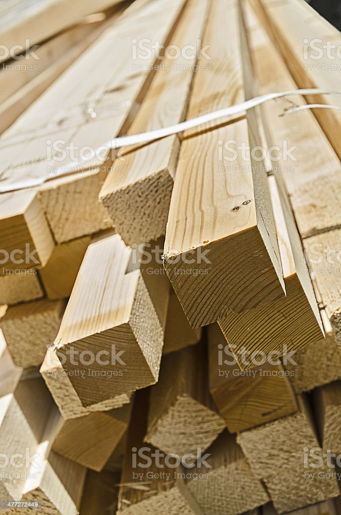 Stack of wooden rectangular blocks stock photo