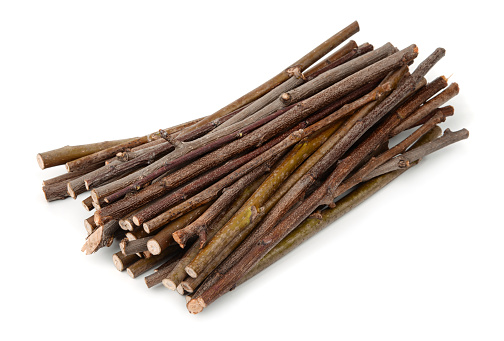 Stack of wooden twigs