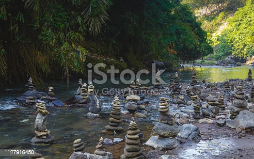 istock Stack of Zen stones for perfect meditation 1127916450