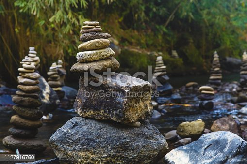 istock Stack of Zen stones for perfect meditation 1127916760