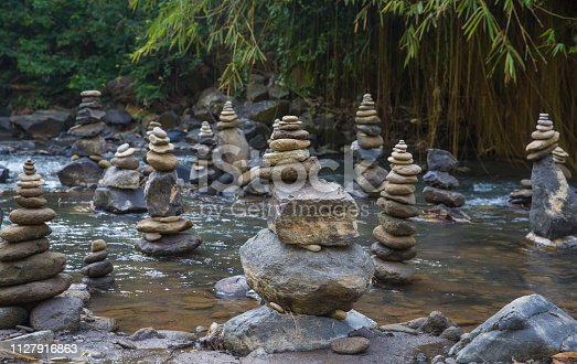 istock Stack of Zen stones for perfect meditation 1127916863