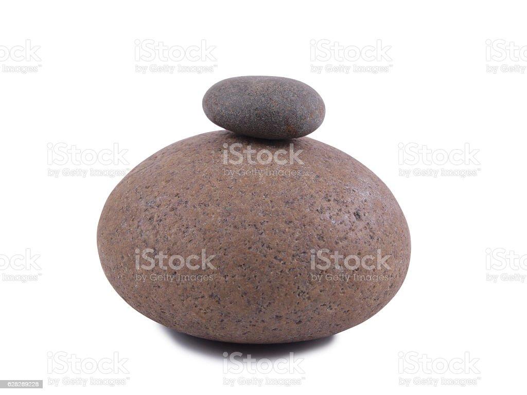 Stack old stones stock photo