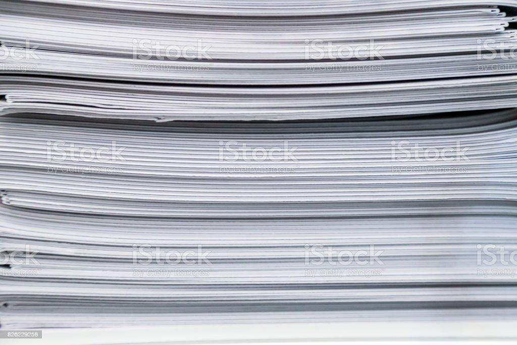 Stack Paperwork Brochures stock photo