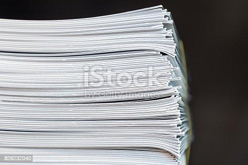 istock Stack Paperwork Brochures 826232040