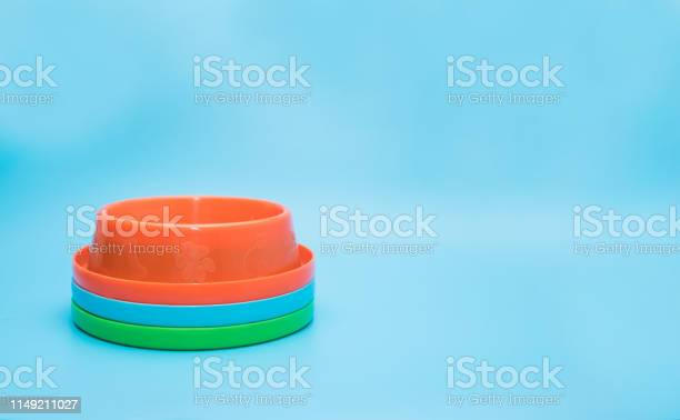 Stack plastic bowl for pet on blue background object for pet concept picture id1149211027?b=1&k=6&m=1149211027&s=612x612&h=yt3klr iijlrwkxrm6hcssomqfgfovtznwrlmnyxhbc=