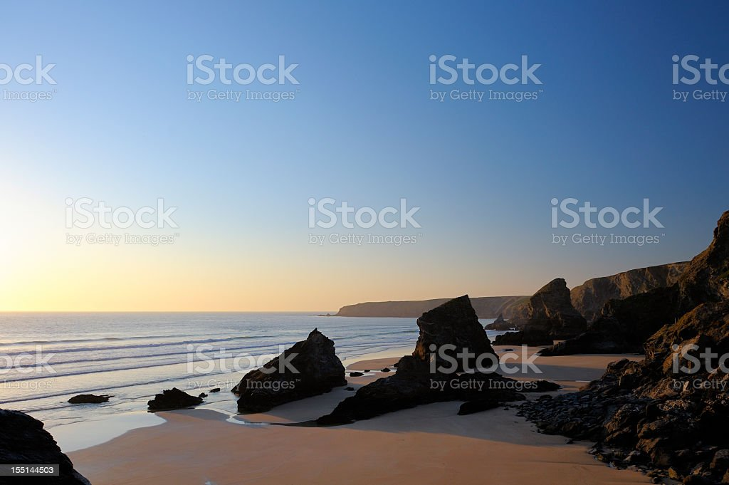 Stack Rocks At Bedruthan Steps stock photo