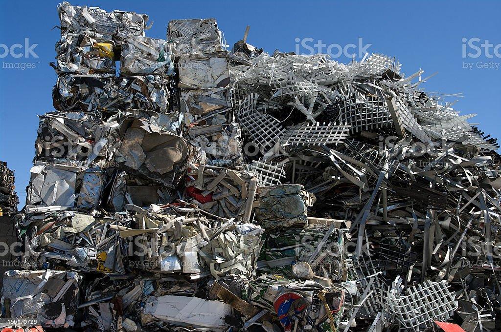 Stack scrap metal royalty-free stock photo