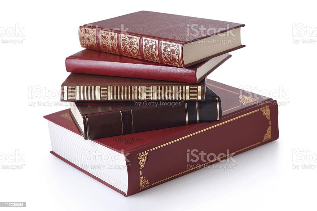 Stack stylish books isolated. royalty-free stock photo